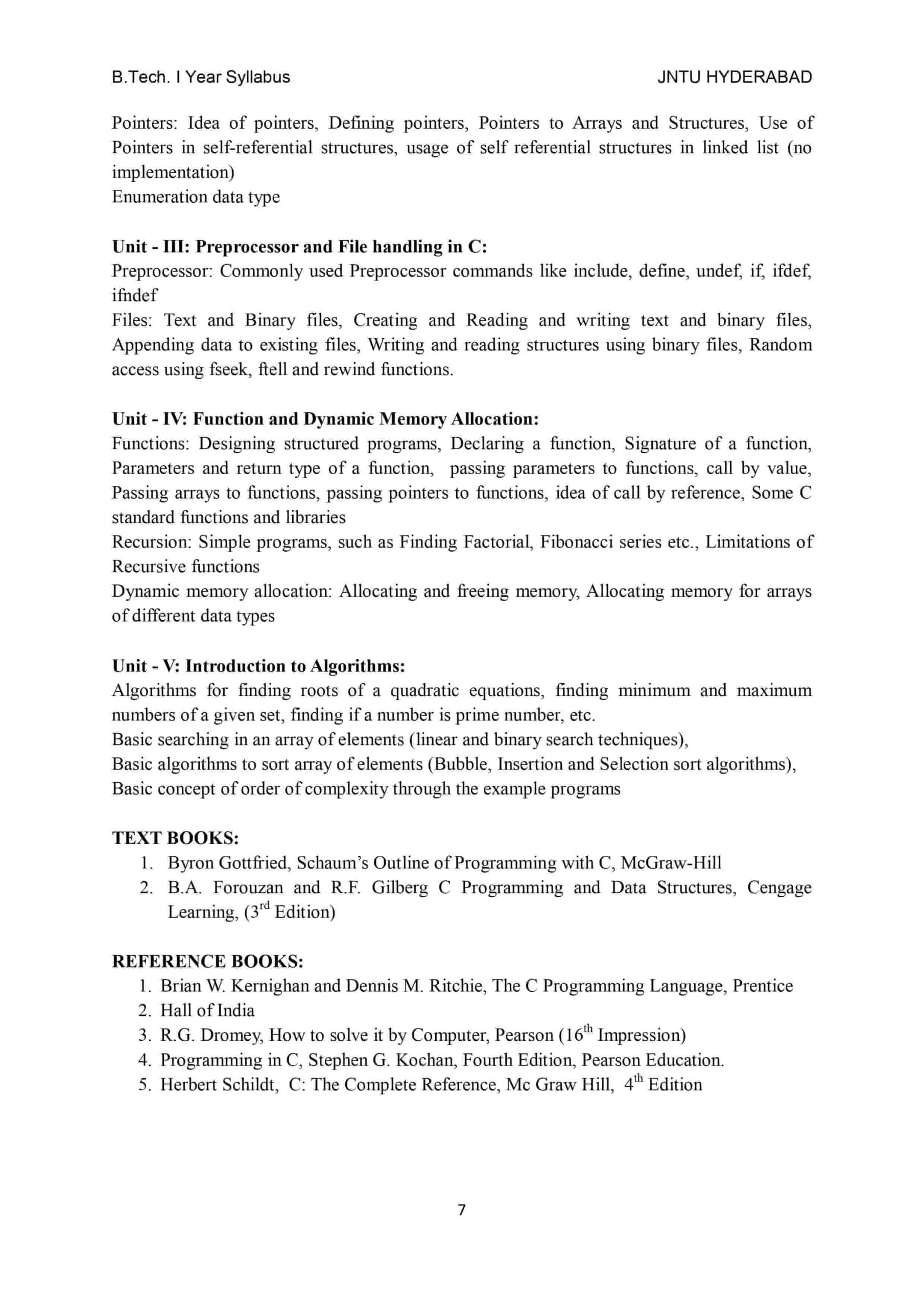 pps programming for problem solving btech r18 jntuh syllabus pdf download