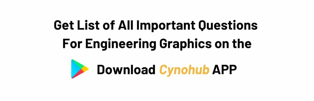 JNTUH R18 Engineering Graphics Important Questions
