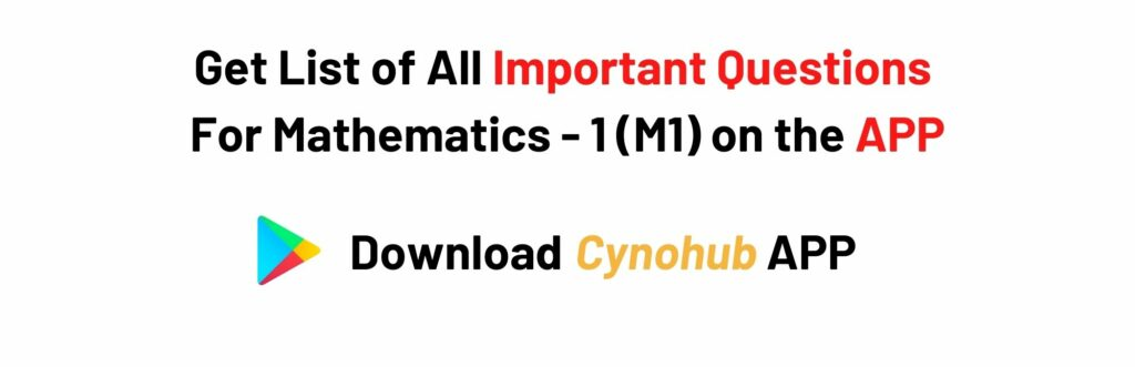 Mathematics 1 JNTUK Syllabus