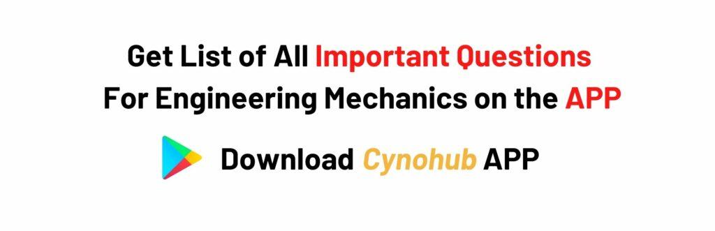 JNTUH R18 Engineering Mechancis Imoprtant Questions