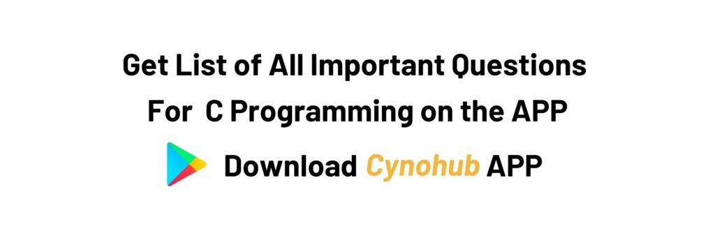 JNTUA B.tech R20 C Programming Syllabus