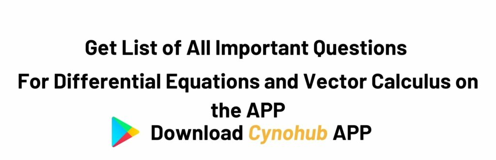 Differential Equations and Vector Calculus Syllabus